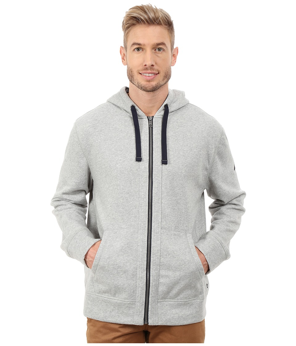 Nautica - CVC Full Zip Hoodie (Grey Heather) Men's Sweatshirt
