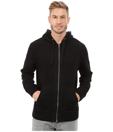 Nautica - CVC Full Zip Hoodie (True Black) Men's Sweatshirt
