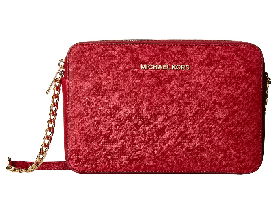 MICHAEL Michael Kors - Jet Set Travel LG Ew Crossbody (Cherry) Cross Body Handbags
