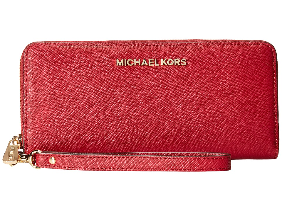 MICHAEL Michael Kors - Jet Set Travel Travel Continental (Cherry) Clutch Handbags