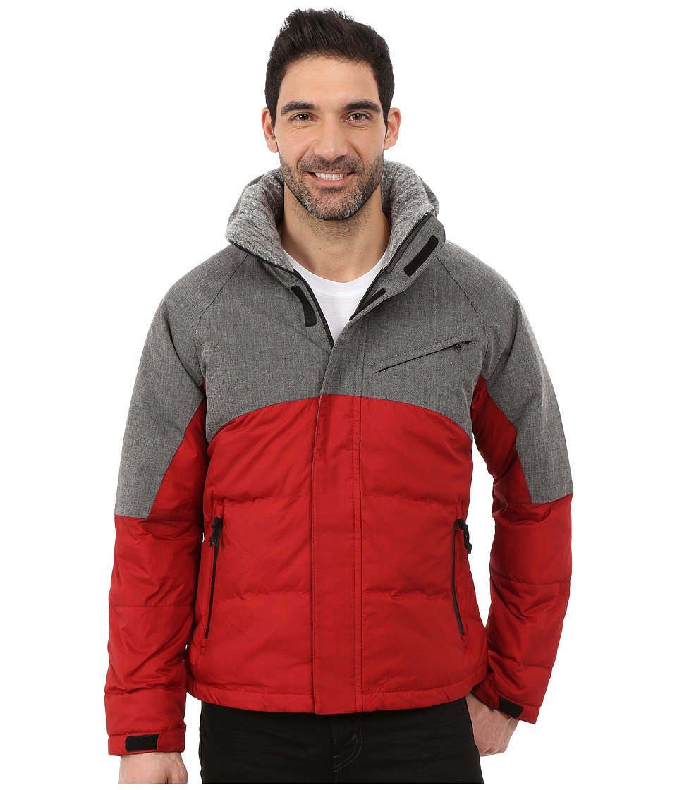 Nautica - Color Block Quilted Bomber (Jib Red) Men's Coat