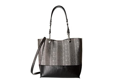 Calvin Klein - Novelty Tote (Black/White Snake) Tote Handbags