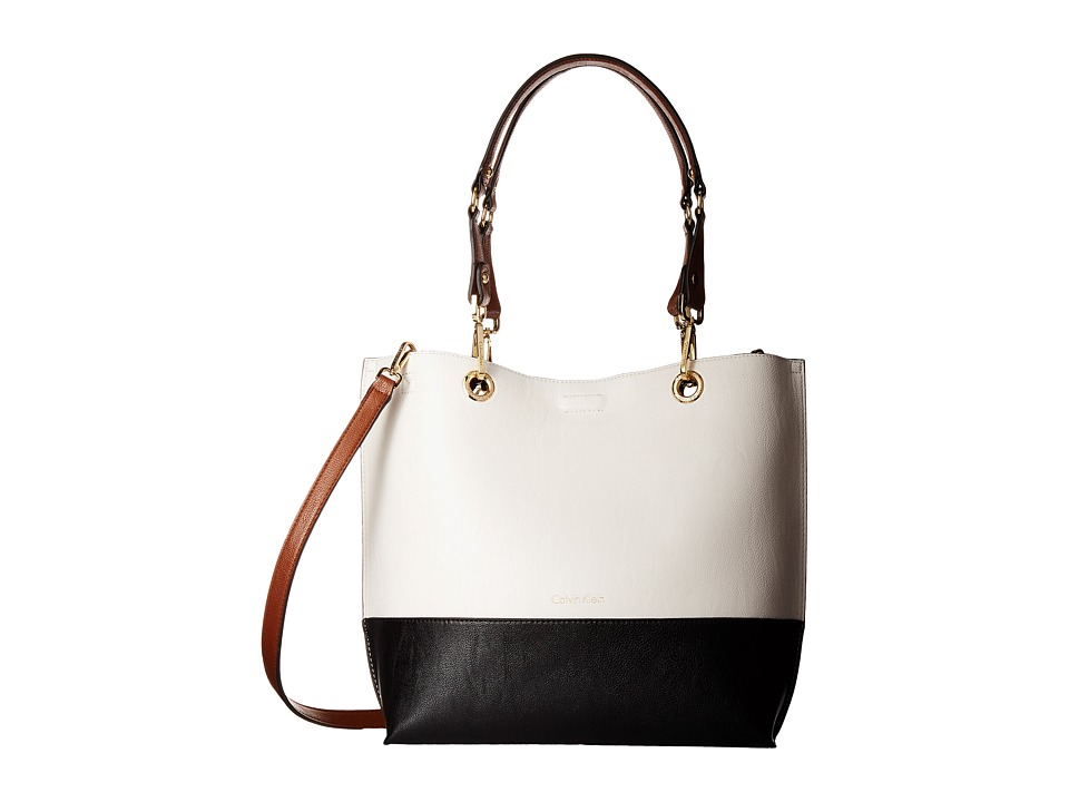 Calvin Klein - Unlined Tote (White Combo) Tote Handbags