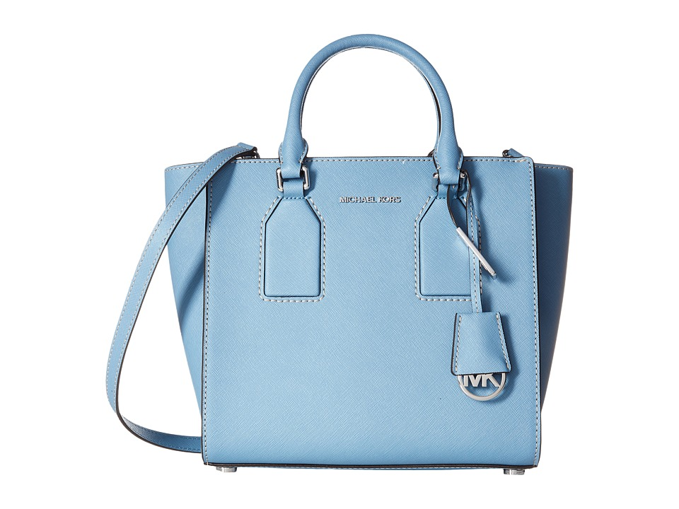MICHAEL Michael Kors - Selby Medium Satchel (Sky) Satchel Handbags