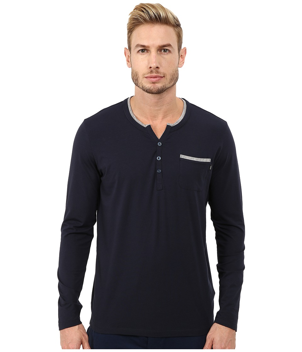 BOSS Hugo Boss - Balance Jersey Long Sleeve Shirt (Navy) Men