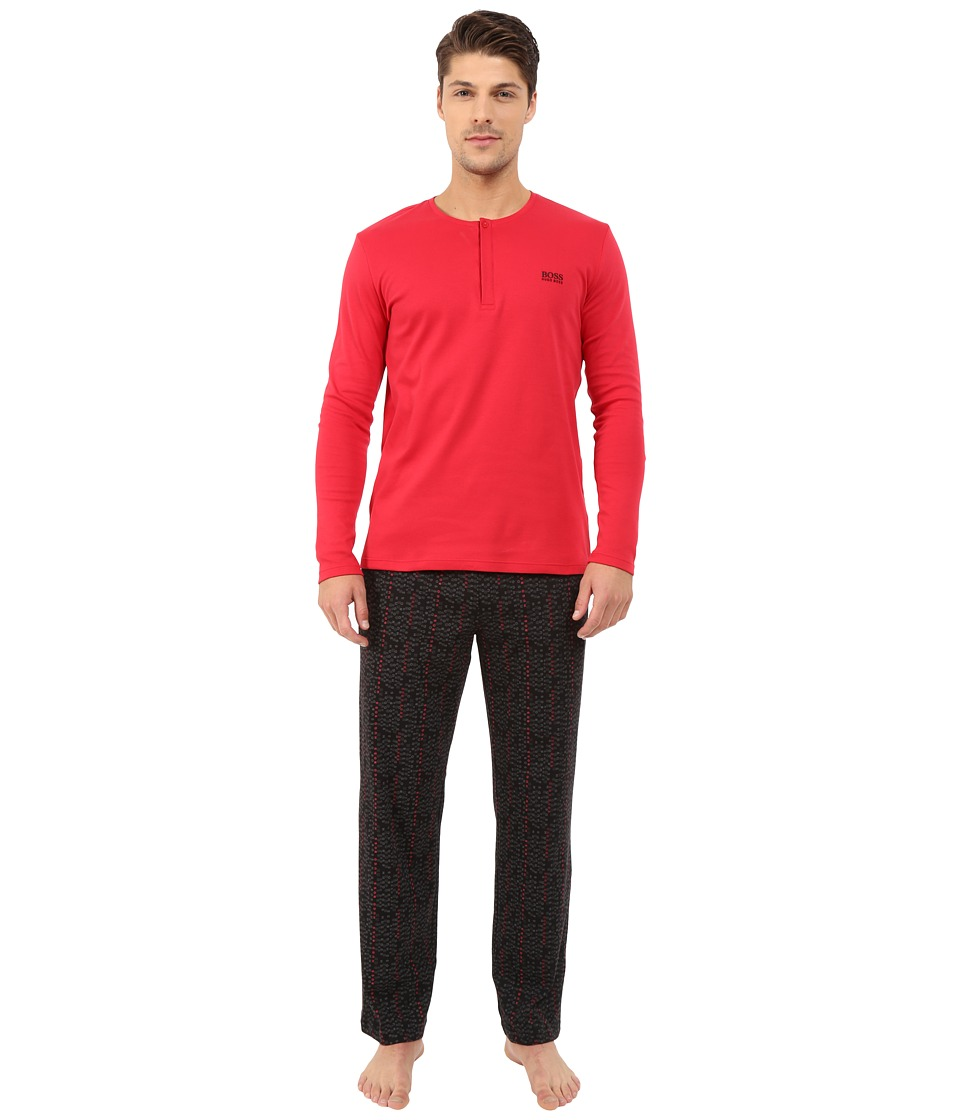 BOSS Hugo Boss - Relax PJ Gift Set (Open Red Black) Men's Pajama Sets