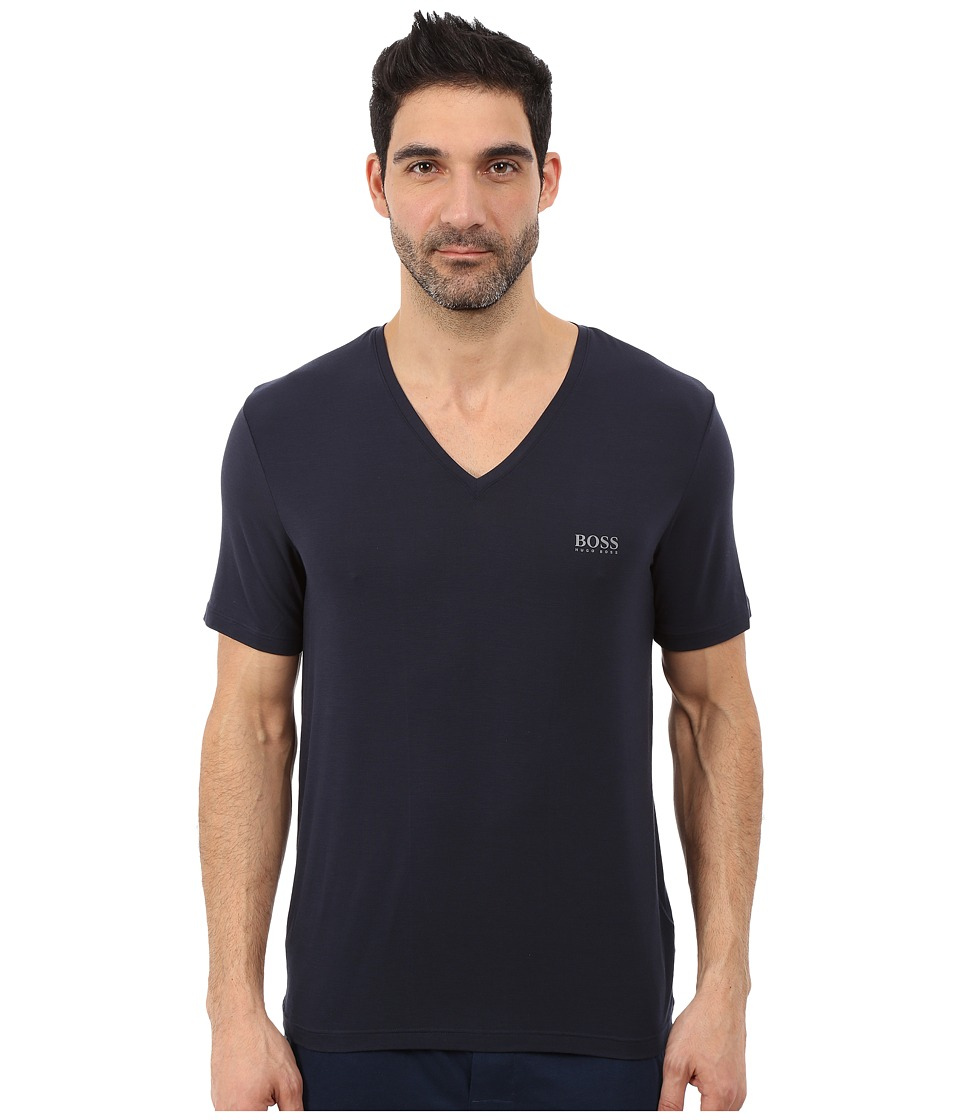 BOSS Hugo Boss - Short Sleeve V-Neck Modal (Navy) Men's T Shirt