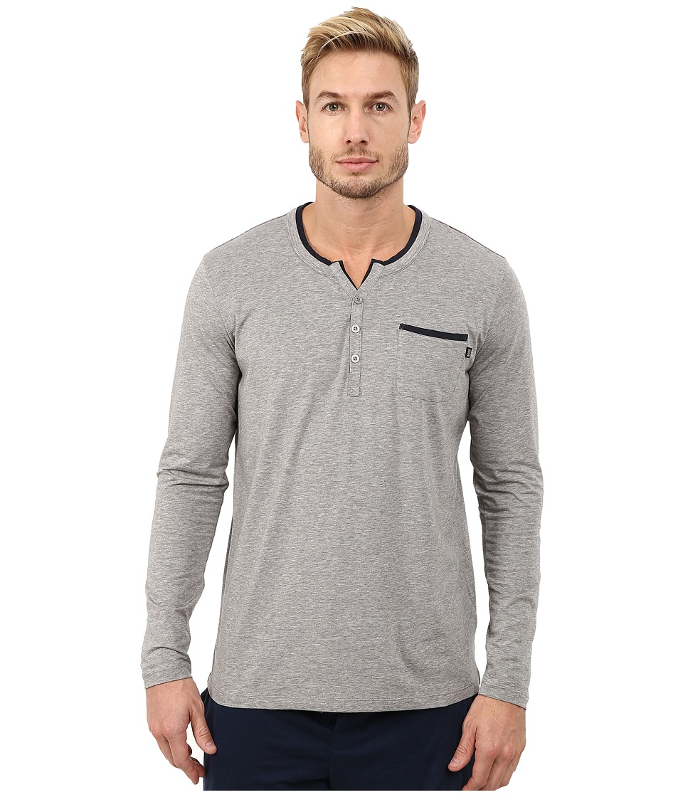 BOSS Hugo Boss - Balance Jersey Long Sleeve Shirt (Medium Grey) Men's Pajama