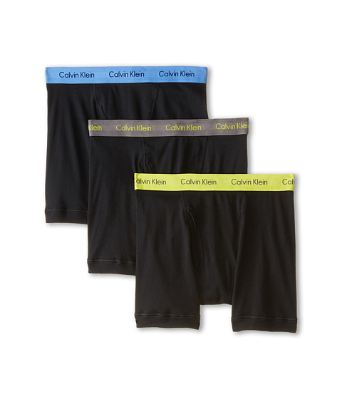 Calvin Klein Underwear - Cotton Classic Boxer Brief 3-Pack NU3019 (Black Body/Grey Sky/Winter Chartreuse/Ultramarine) Men's Underwear