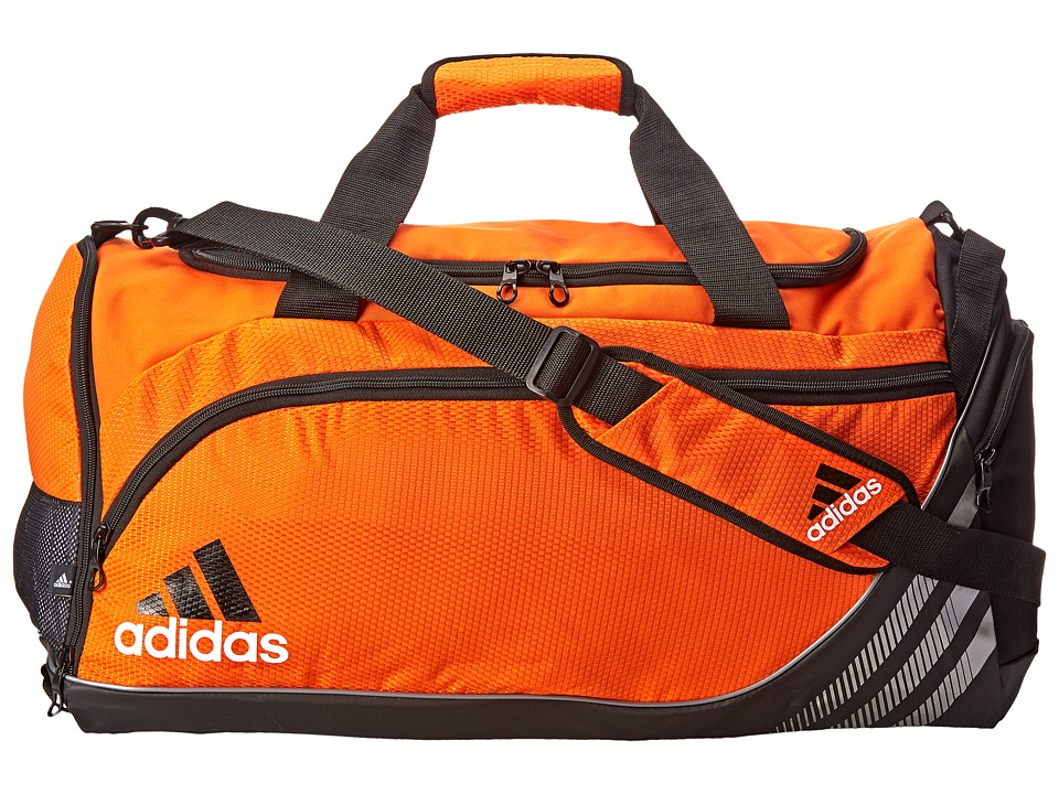 adidas - Team Speed Medium Duffel (Team Orange/Black) Duffel Bags