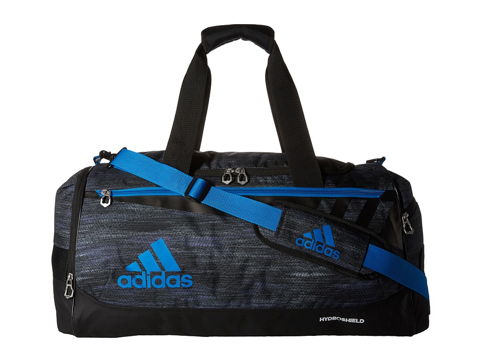 adidas - Team Issue Medium Duffel (Macro Heather Black/Shock Blue) Duffel Bags