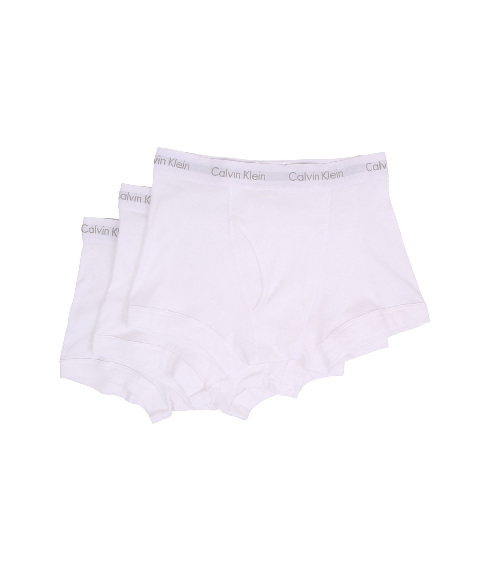Calvin Klein Underwear - Cotton Classics Trunk 3-Pack NB1119 (White) Men's Underwear