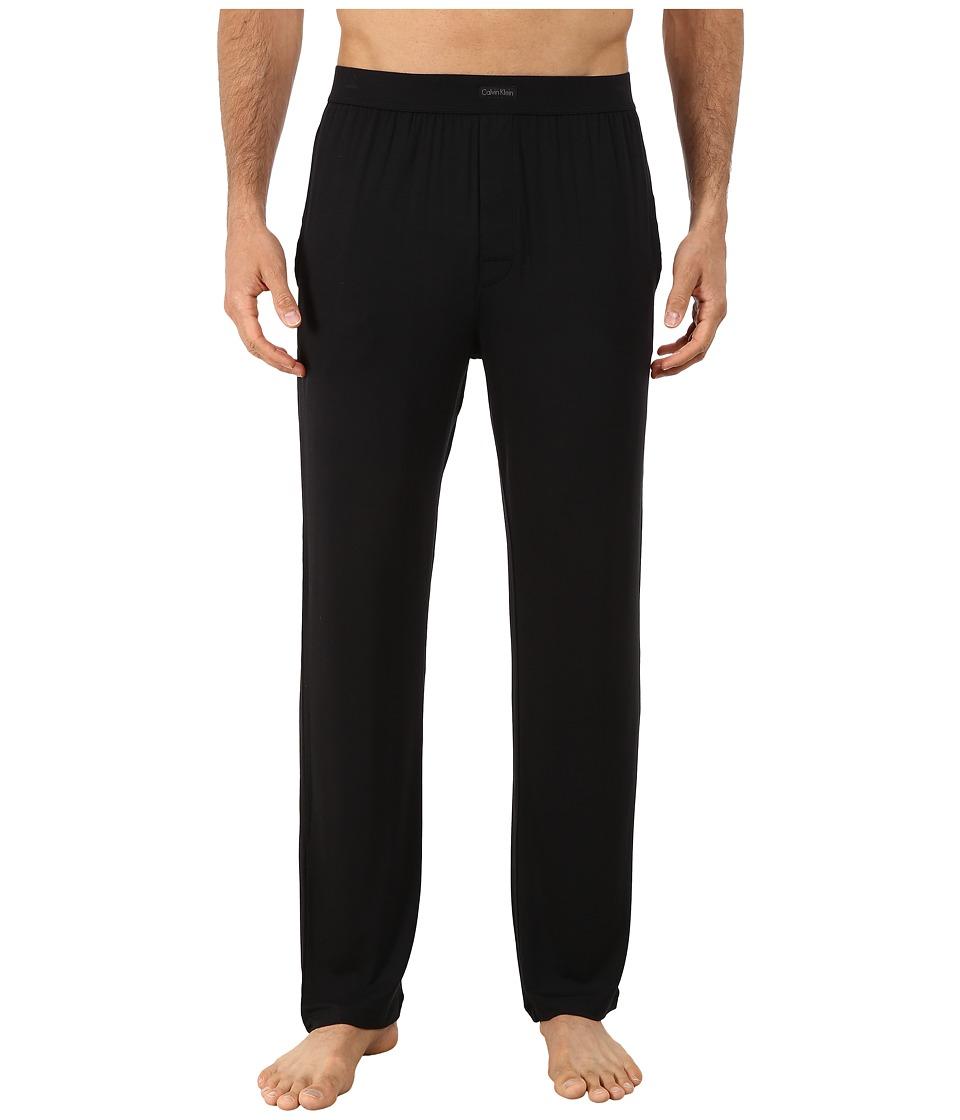 Calvin Klein Underwear - Silk Knit Black Pants (Black) Men