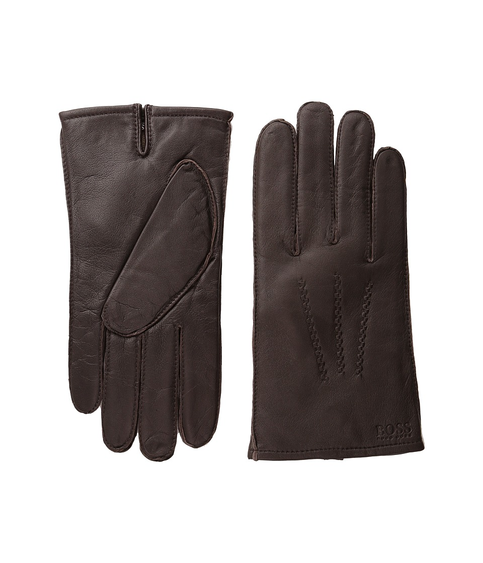 BOSS Hugo Boss - Haindt 10149387 01 (Brown) Dress Gloves
