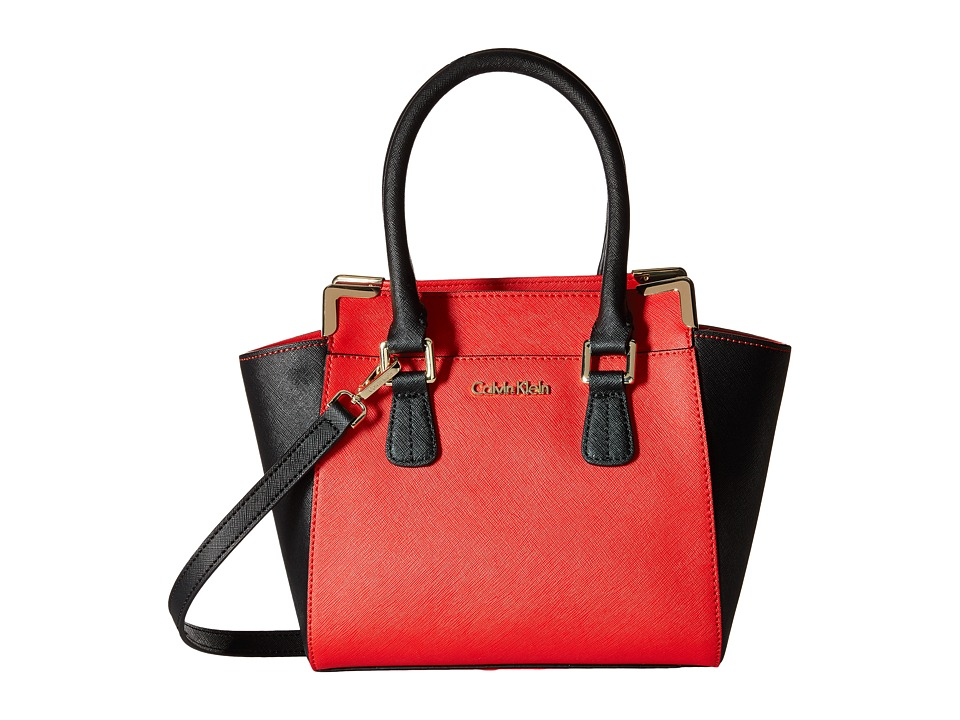 Calvin Klein - On My Corner H3JE12AC (Vivid Red/Black) Satchel Handbags
