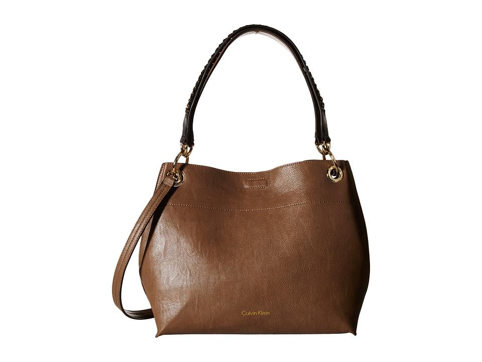 Calvin Klein - Reversible Novelty Hobo (Dark Taupe/Black) Cross Body Handbags