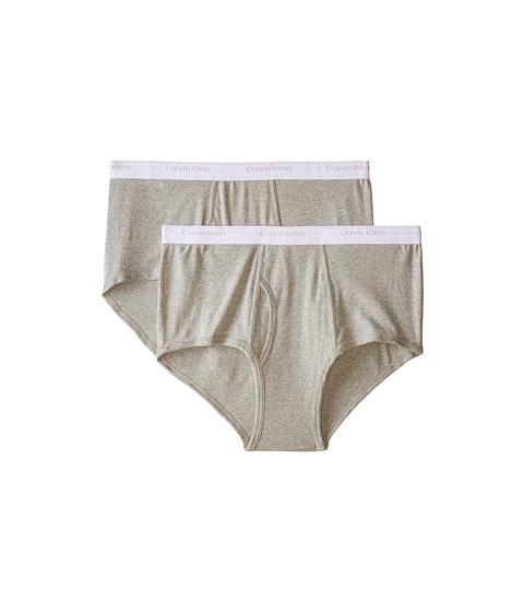 Calvin Klein Underwear - Big Tall 2-Pack Brief (Heather Grey) Men's Underwear