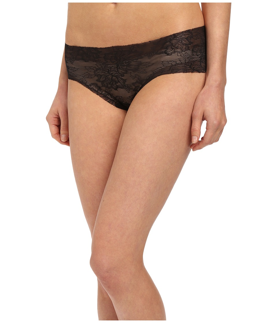 Commando - Weightless Lace Panty BK08 (Black) Women's Underwear