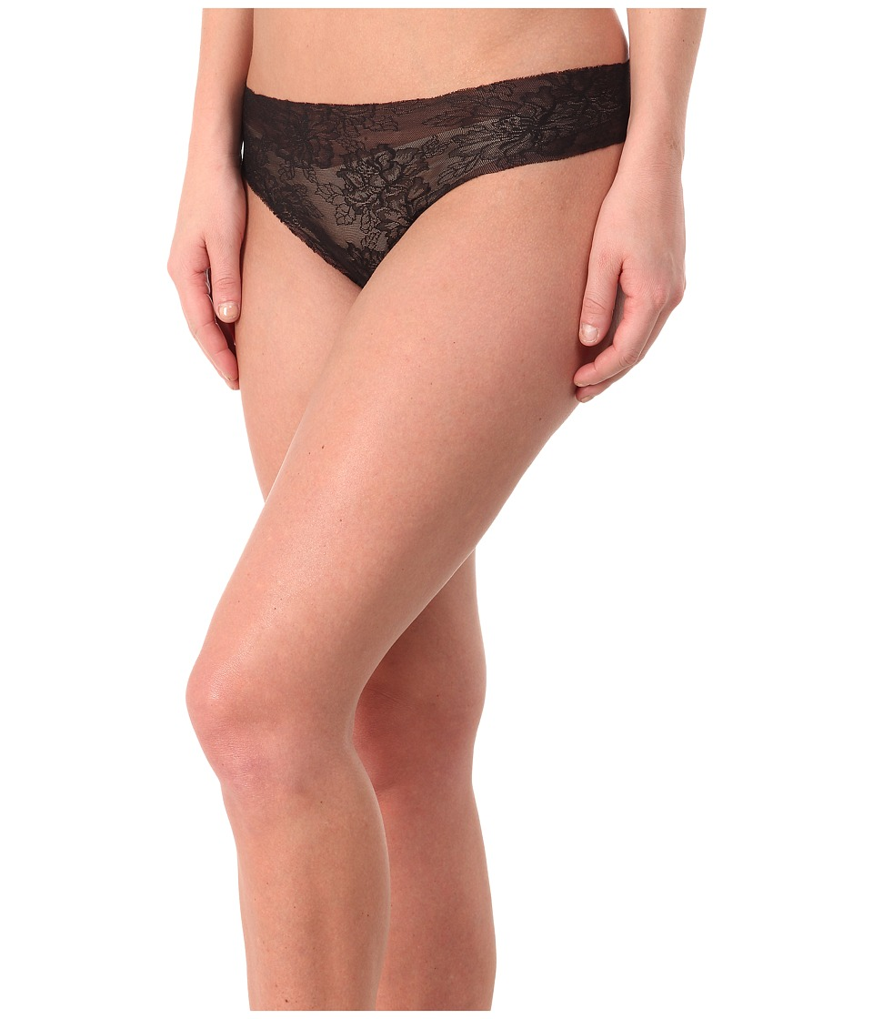Commando - Weightless Lace Thong LT18 (Black) Women's Underwear