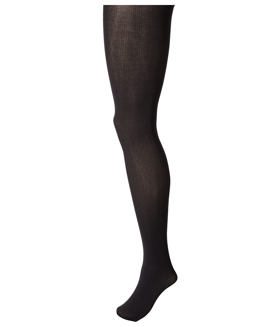 Commando - Fineline Ribbed Opaque Tights HF026 (Black) Hose