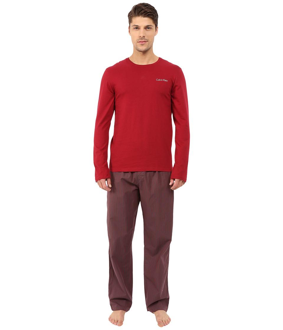 Calvin Klein Underwear - Sleep Set (Dylan Red Top/Robert Stripe/Dylan Red) Men's Pajama Sets