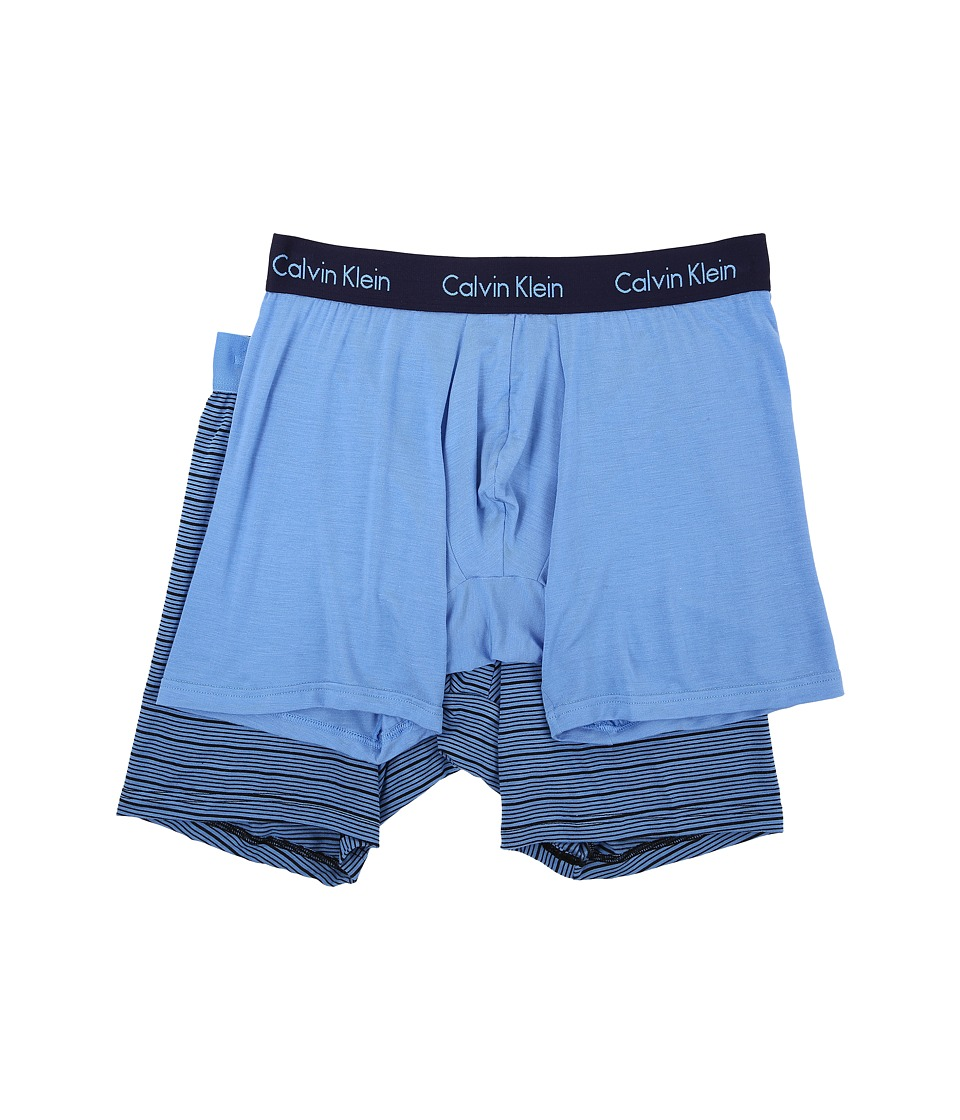 Calvin Klein Underwear - 2-Pack Boxer Brief (Optic Solid/Optic Stripe) Men's Underwear