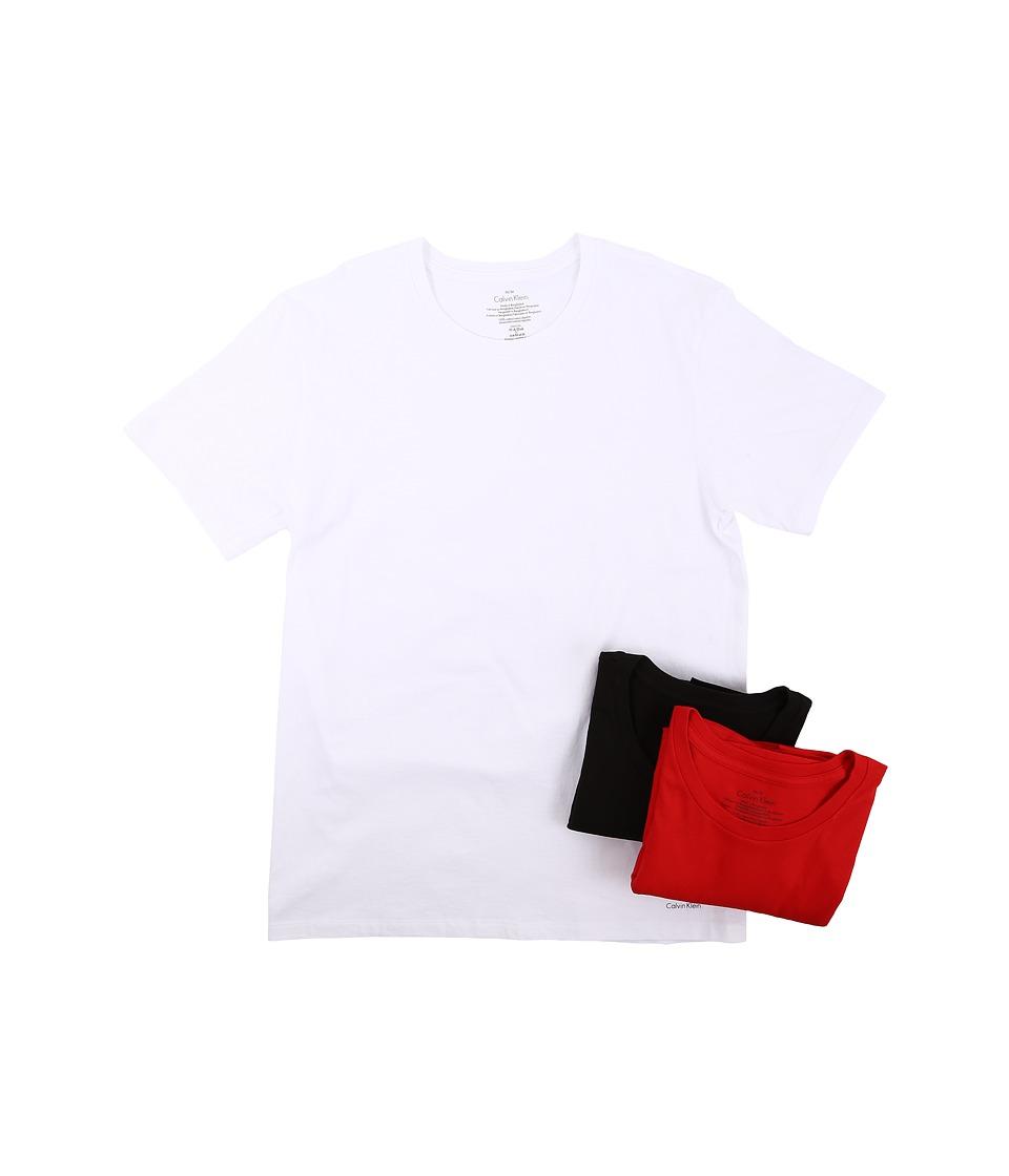 Calvin Klein Underwear - Short Sleeve Crew (White/Ignite/Black) Men's T Shirt