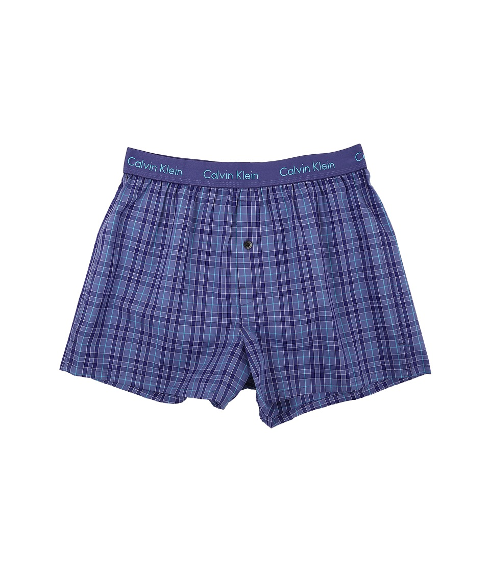 Calvin Klein Underwear - Matrix Woven Slim Fit Boxer U1513 (Olin Plaid/Visionary) Men