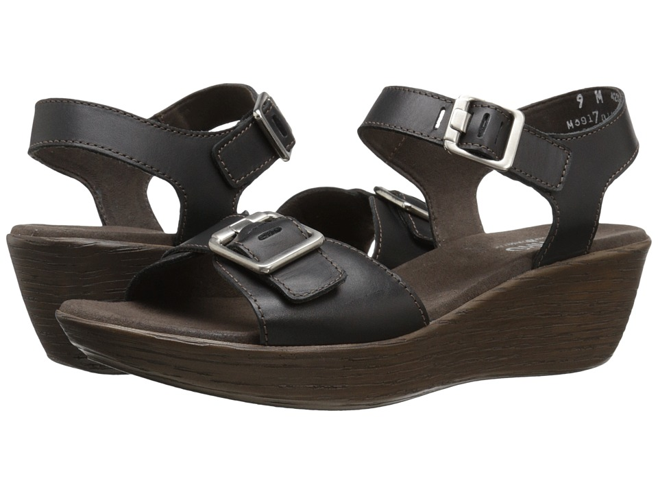 Munro - Marci (Black Leather) Women's Sandals