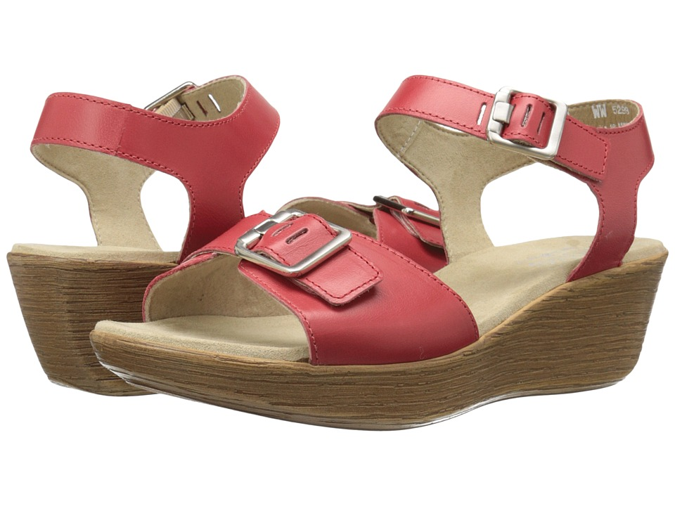 Munro - Marci (Red Leather) Women