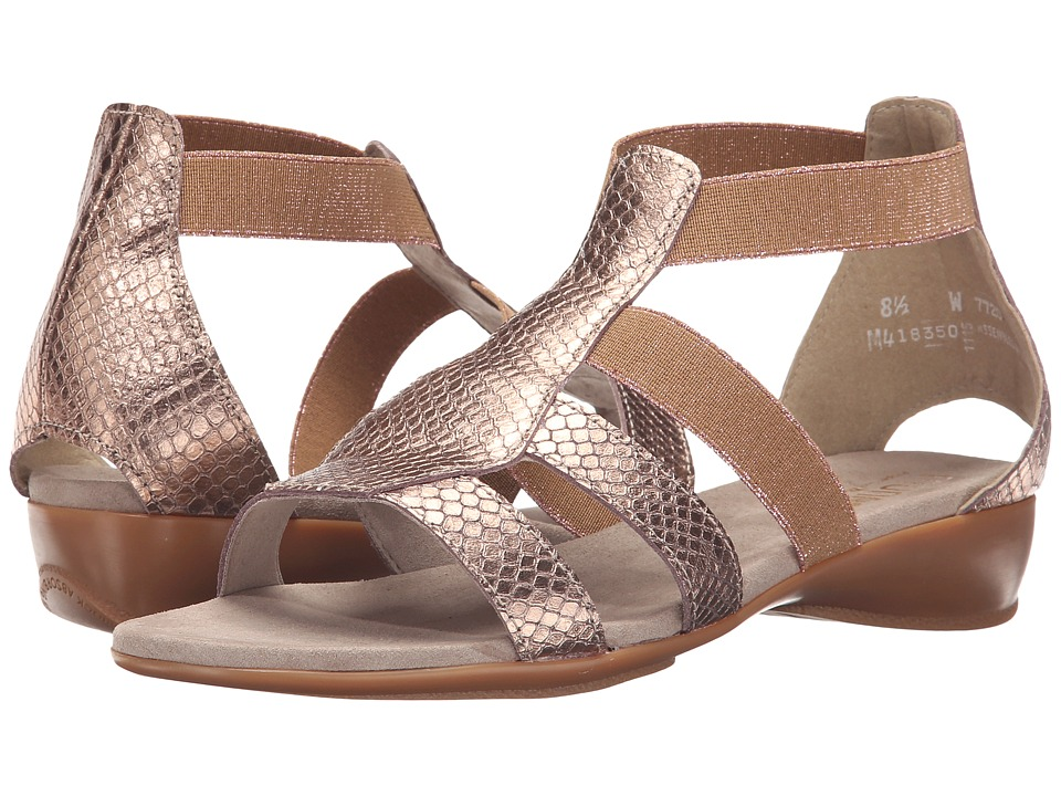 Munro - Zena (Rose Gold Metallic Python Print) Women's Sandals