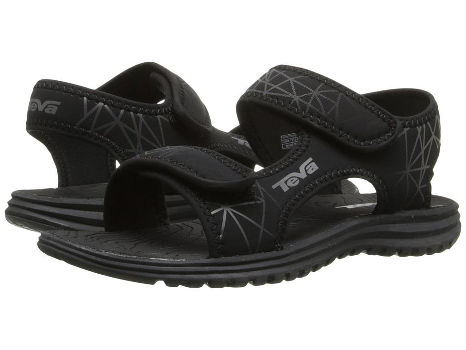 Teva Kids Tidepool (Little Kid/Big Kid) (Black/Grey Print) Boys Shoes