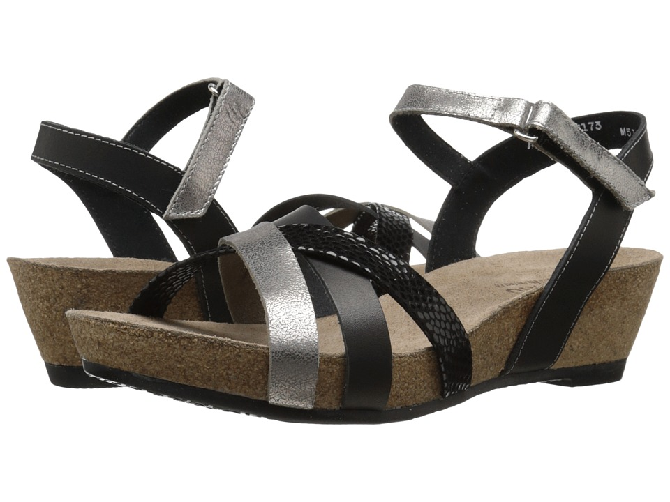 Munro - Eden (Black Multi Leather) Women's Sandals