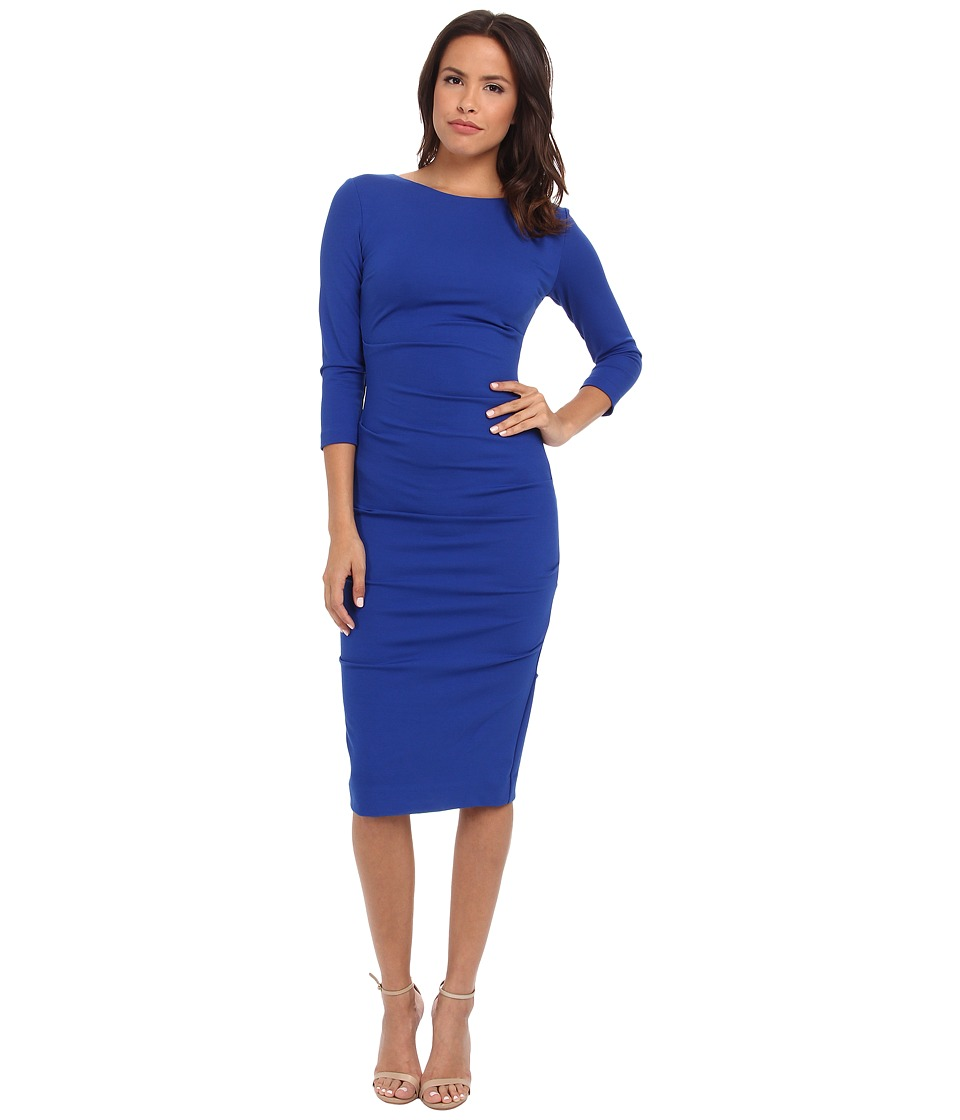 Nicole Miller - Ponte Day Dress (Blue) Women's Dress