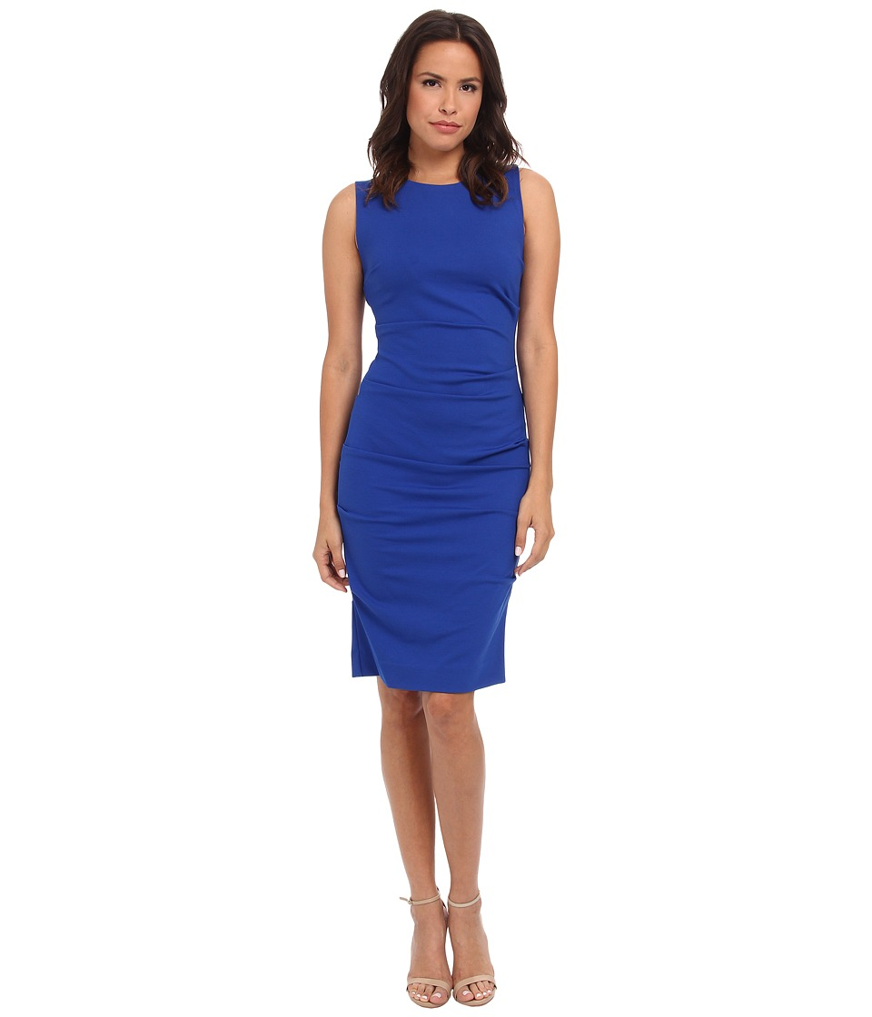 Nicole Miller Lauren Ponte Dress (Blue) Women