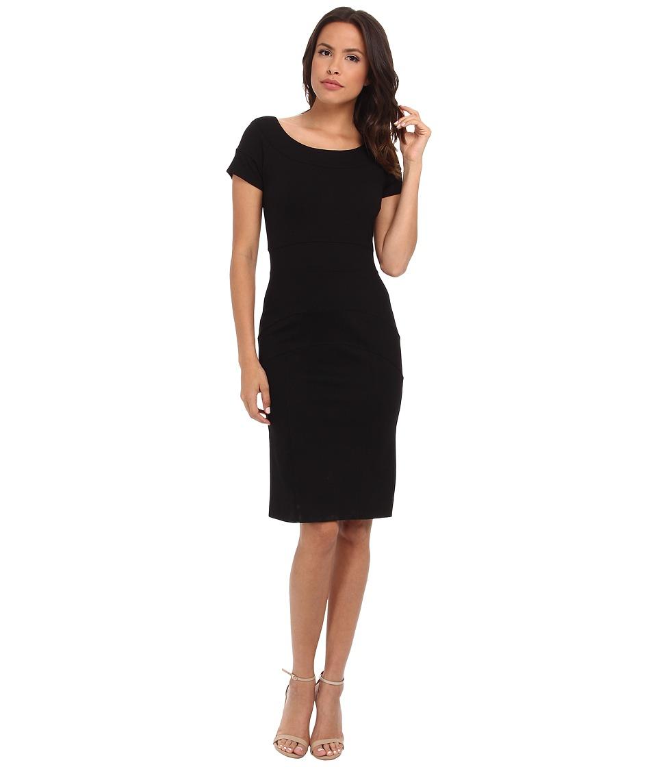 Nicole Miller Karina Ponte Dress (Black) Women