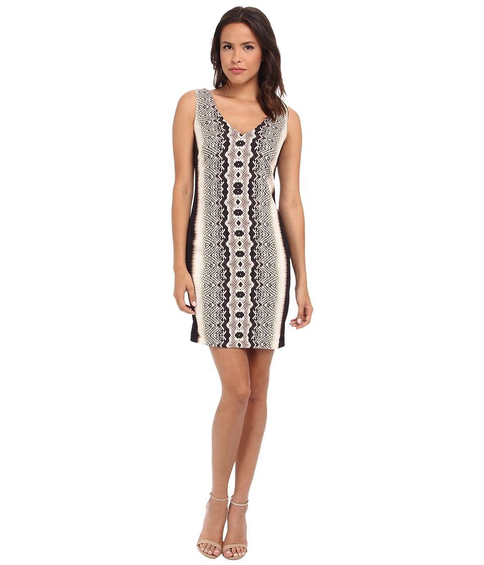 Nicole Miller Nicki Anaconda V-Neck Multi Dress