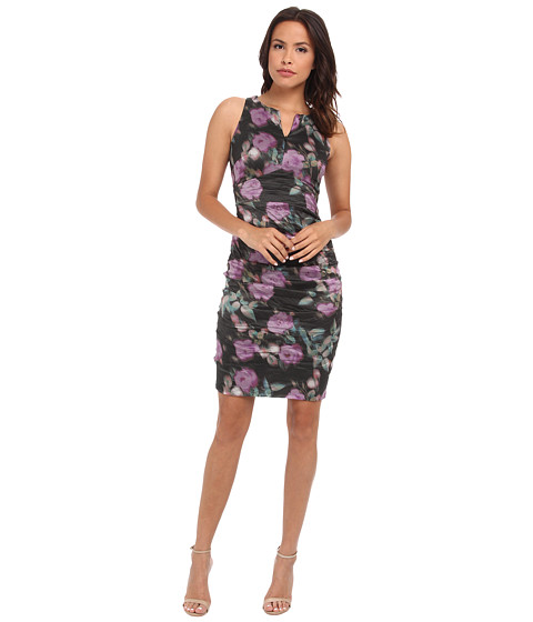 Nicole Miller - Zip-Me Flower Strokes Metal Dress (Multi) Women's Dress