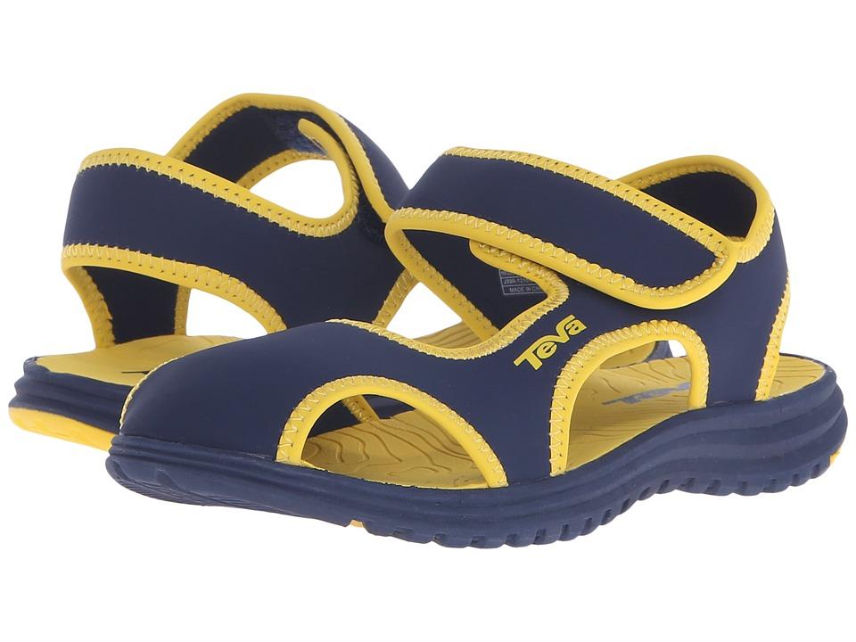 Teva Kids Tidepool CT (Little Kid) (Navy/Yellow) Boys Shoes