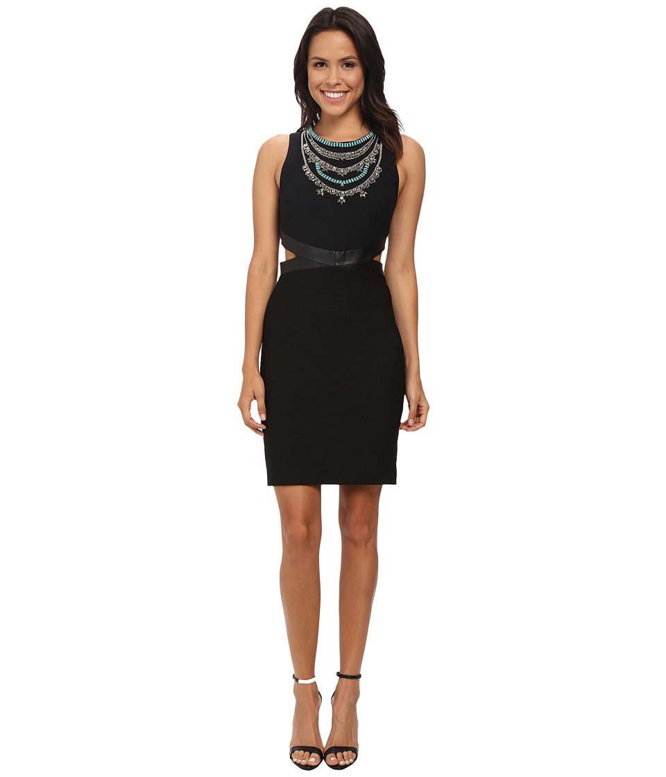 Nicole Miller - Necklace Cutout Queenie Dress (Black/Multi) Women's Dress