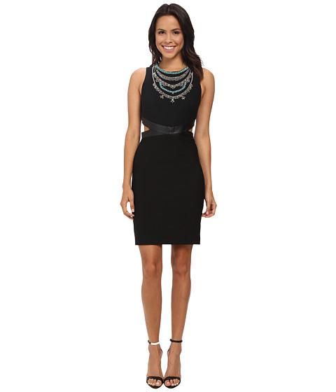 Nicole Miller - Necklace Cutout Queenie Dress (Black/Multi) Women