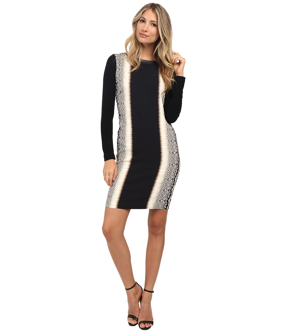 Nicole Miller Anaconda Long Sleeve Dress (Multi) Women