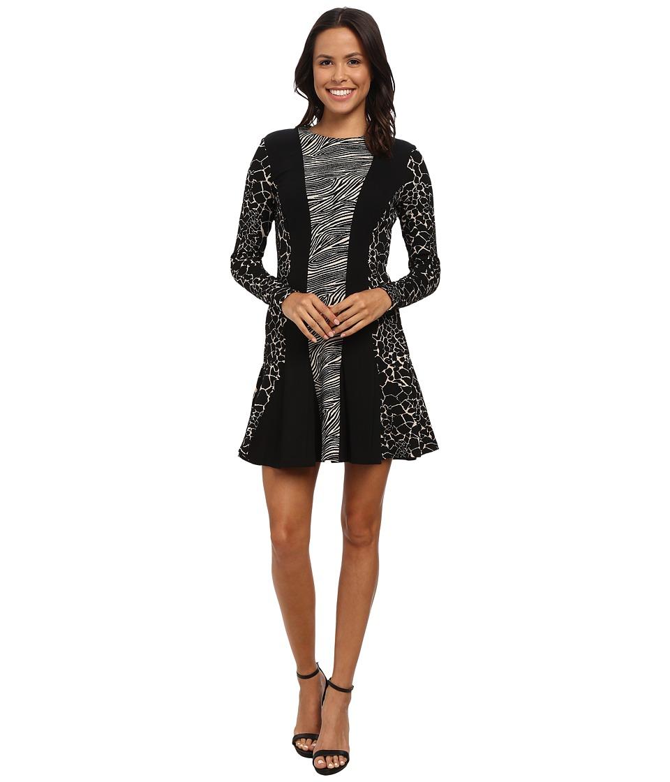 Nicole Miller - Patchwork Jacquard Amber Dress (Multi) Women's Dress