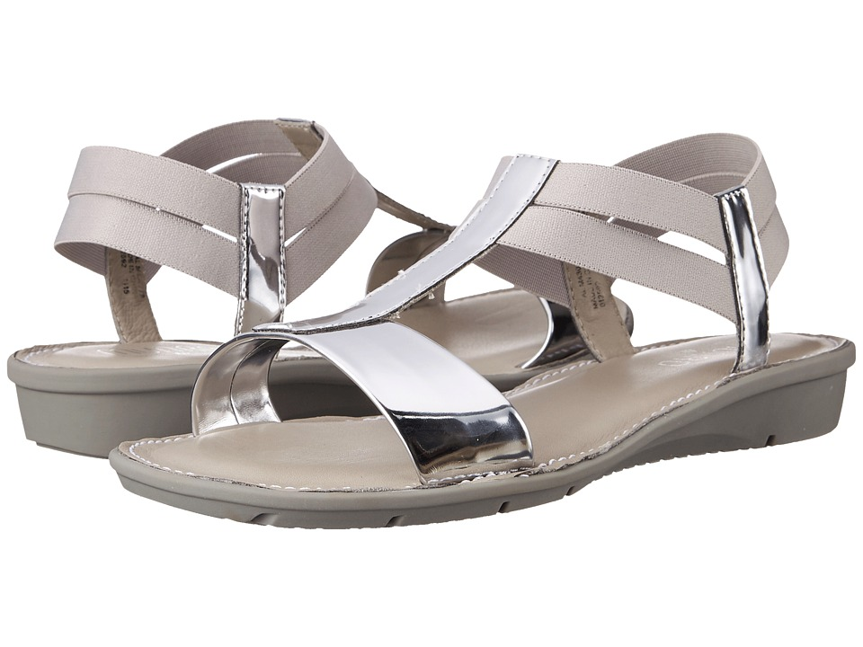 Munro - Ideal (Silver Mirror/White Elastic) Women's Sandals