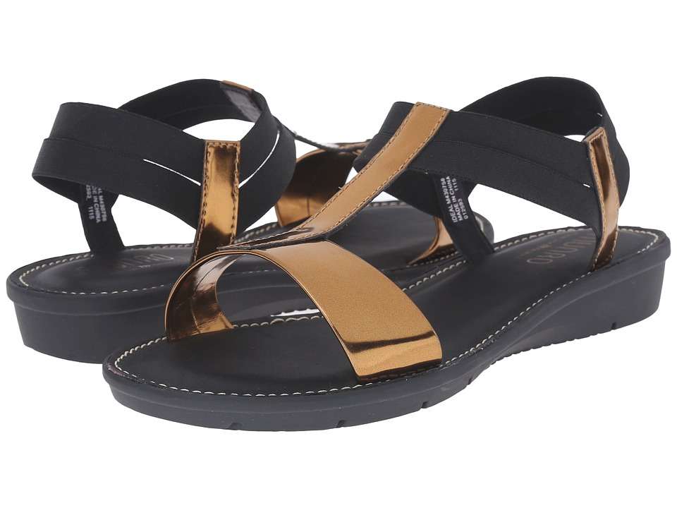 Munro - Ideal (Gold Mirror/Black Elastic) Women's Sandals