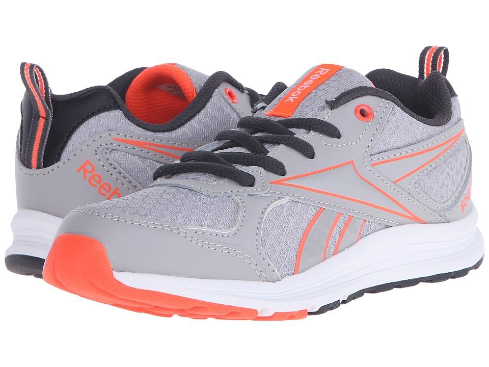 Reebok Kids - Almotio RS (Little Kid/Big Kid) (Tin Grey/Atomic Red/Coal) Kids Shoes