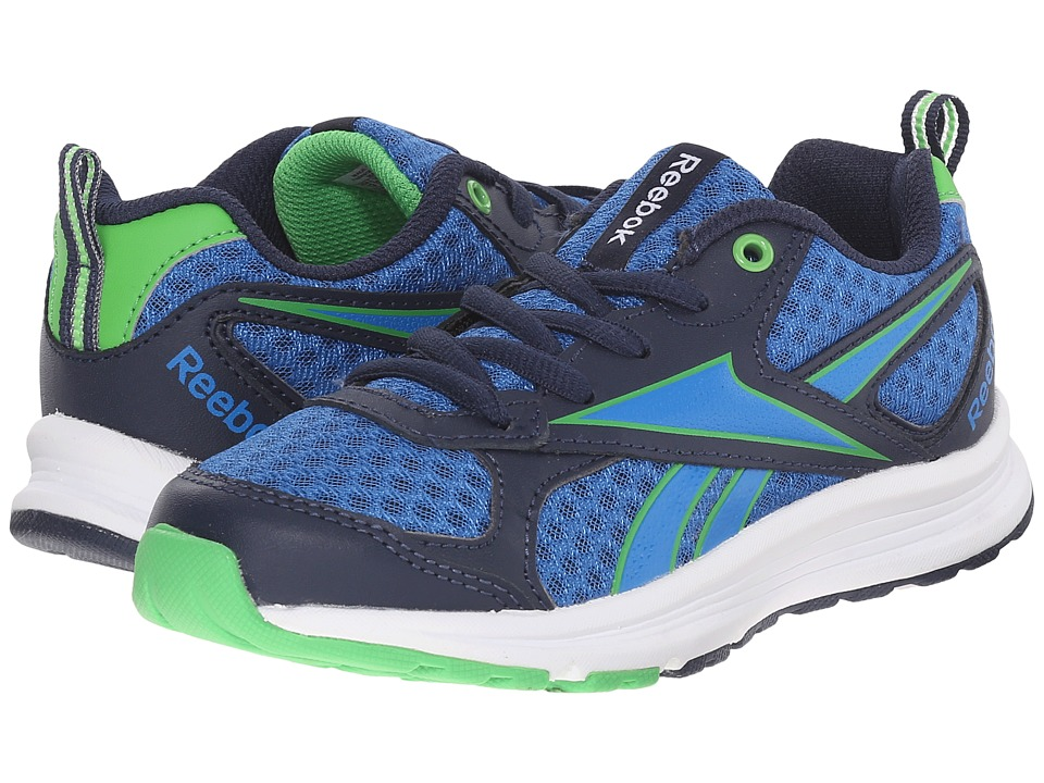 Reebok Kids - Almotio RS (Little Kid/Big Kid) (Collegiate Navy/Bright Green/Blue Sport/White) Kids Shoes