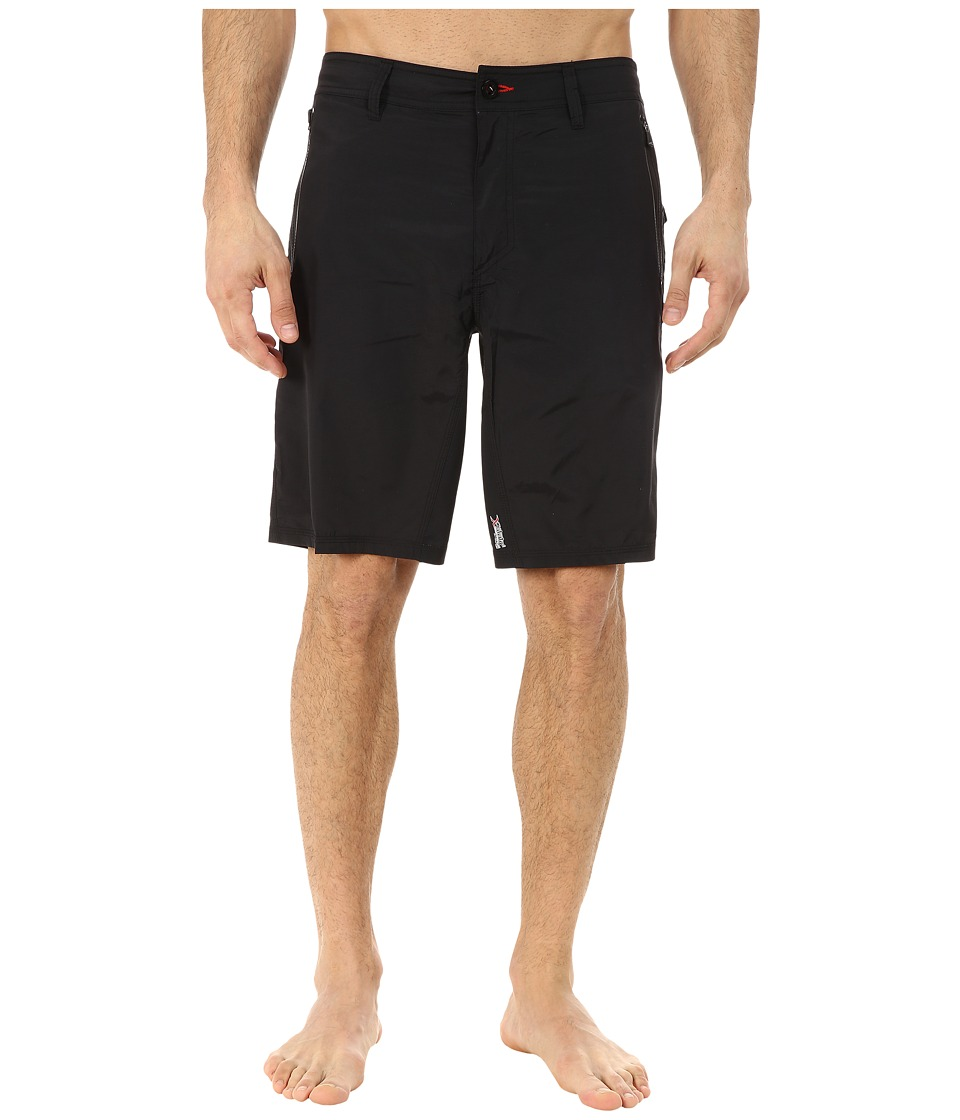 O'Neill - Tours Hybrid Boardshorts (Black) Men's Clothing