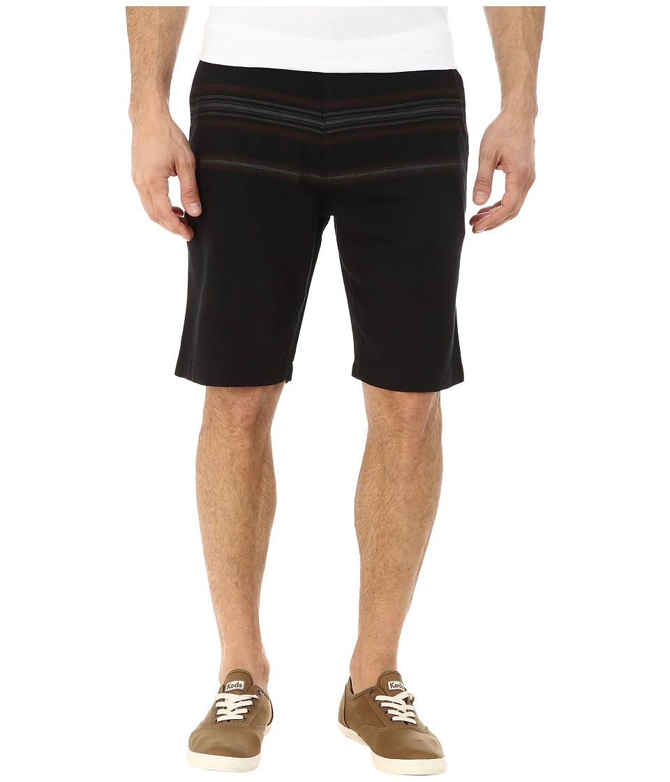 O'Neill - Treehorn Stripe Shorts (Black) Men's Clothing