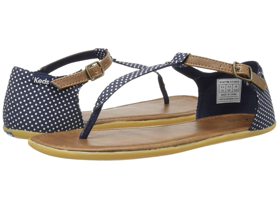 Keds - Tealight Strap Dot (Navy) Women